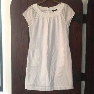 Size 6 J.Crew White Swiss dot cotton mini dress